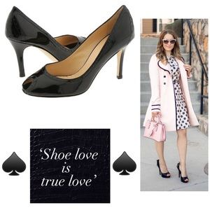 Kate Spade Giselle in Black Patent Leather